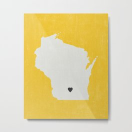 Wisconsin Love Metal Print