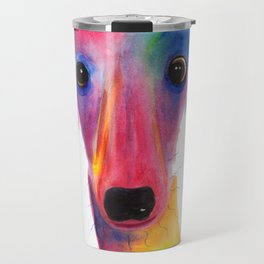 Nosey Dog Whippet Greyhound ' BeLLa ' by Shirley MacArthur Travel Mug