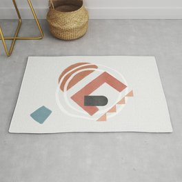 crooked inner tower - concept abstraction Rug