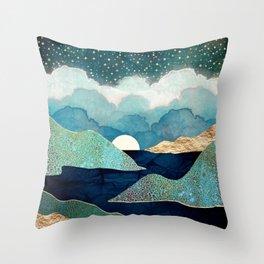 Ocean Clouds Throw Pillow