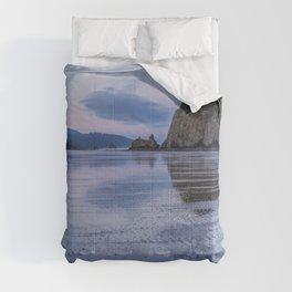 Daybreak at Haystack Rock Comforters