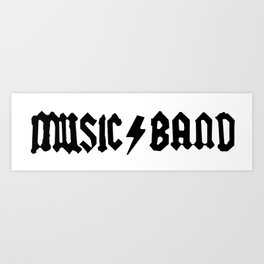 Music⚡Band Art Print