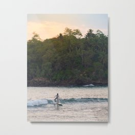 Surfing kid on the waves of Mirissa, Sri Lanka | Asia travel photography Metal Print