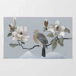 Mourning Dove And Magnolia Rug