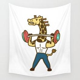 fitness giraffe Wall Tapestry