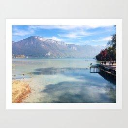 Lake Annecy Art Print
