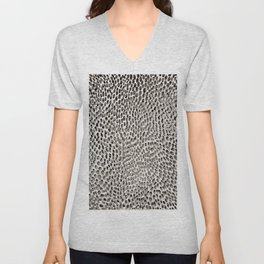 shifting dots in black and white Unisex V-Neck