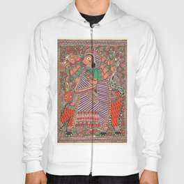 DurgaMadhubani art or Mithila painting was traditionally created by the women of various communities Hoody
