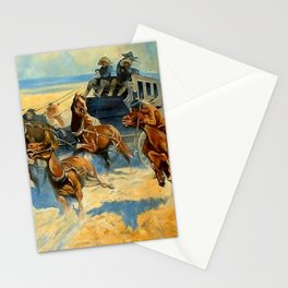 """Western Art """"Downing the Nigh Leader"""" Stationery Cards"""