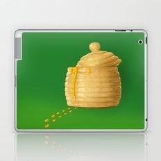 Dip Into The Honey Jar - Green Painting Laptop & iPad Skin