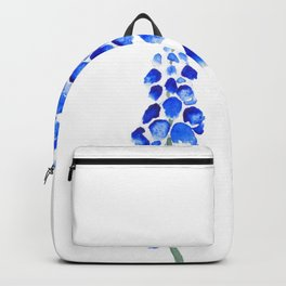 2 abstract blue grape hyacinth watercolor Backpack