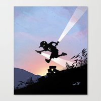 Flash Kid Canvas Print