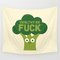 vegetarian Wall Tapestries featuring Raw Truth by David Olenick