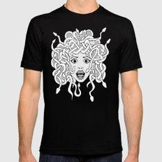 foolish medusa (b&w) Black LARGE Mens Fitted Tee