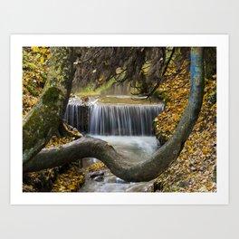 Autumn Waterfall in Brasov Art Print