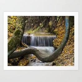 Autumn Waterfall in Brasov Art Print
