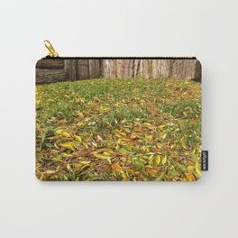 Winter Leafs , Railroad Wood Carry-All Pouch
