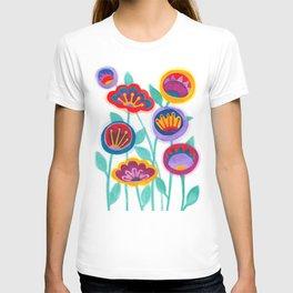 raw flower garden T-shirt