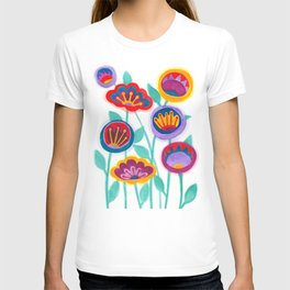 raw flower garden T-shirt