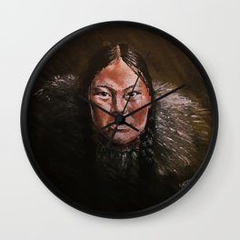 Inuit Girl in Shadow Wall Clock