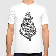 You Are My Anchor White Mens Fitted Tee X-LARGE