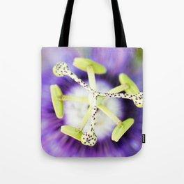 Purple Haze Perfume Passion Flower Stamens Tote Bag