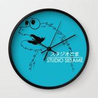 sesame street Wall Clocks featuring Studio Sesame by le.duc