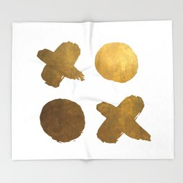 gold XOXO Throw Blanket