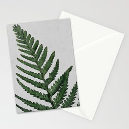 Botanical Forest Sage Green Vintage Leaf Fern, Watercolor Wall Art Farmhouse Rustic Country Nature Stationery Cards