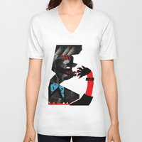 ethnic V-neck T-shirts featuring Ethnic by longmuzzle