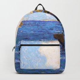 Granville Redmond - Sailboats on calm seas - Digital Remastered Edition Backpack