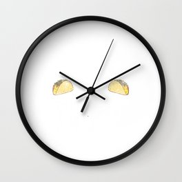 Disc Golf and Tacos Funny Taco Distressed Wall Clock