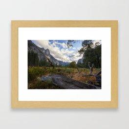 In the Valley. Framed Art Print