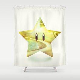 Super Star - Kart Art Shower Curtain