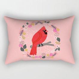 Northern Cardinal by Andrea Lauren  Rectangular Pillow