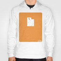 utah Hoodies featuring Utah Minimalist Vintage Map by Finlay McNevin