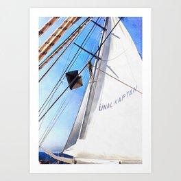 The Realist Adjusts The Sails Art Print