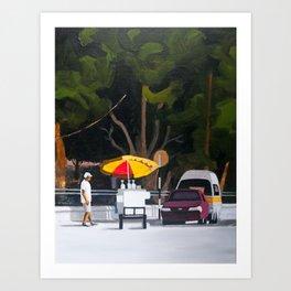 Sno-cone cart Art Print
