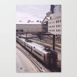 Catching The Train Canvas Print