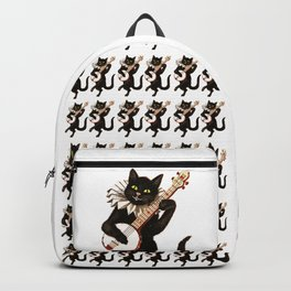 Cat playing a banjo Backpack