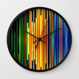 Random Line Pattern Wall Clock