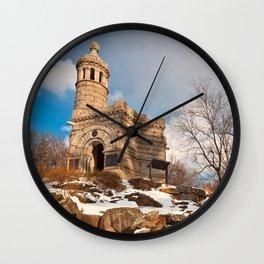 Winter Gettysburg Castle Wall Clock