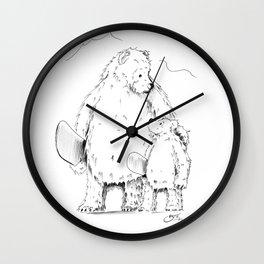 Thanks Poppa Bear Wall Clock