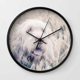Pure White Barley Wall Clock