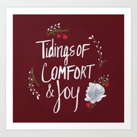 Tidings of Comfort & Joy Art Print