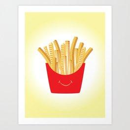 French Fries City Art Print