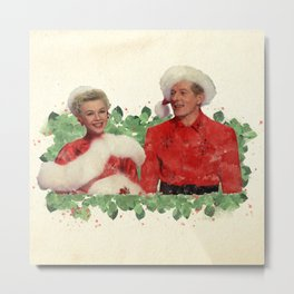 Phil & Judy (White Christmas) Metal Print