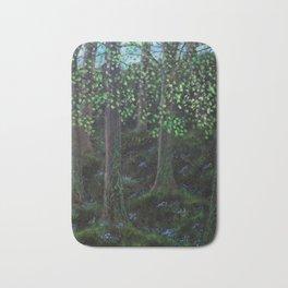 The Fresh Green Leaves of Spring Bath Mat