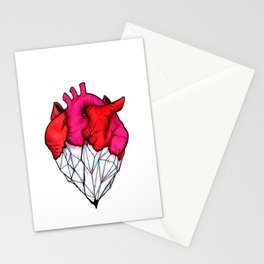Crystal Heart Stationery Cards