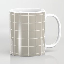 Gray Grey Alabaster Grid Coffee Mug